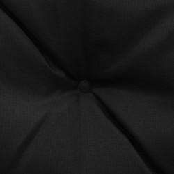 Sonata Възглавници за градинска люлка 2 бр черно и сиво 50 см текстил - Градински Дивани и Пейки