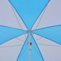Sonata Плажен чадър – подслон, синьо и бяло, 180 см, текстил - Сенници и Чадъри