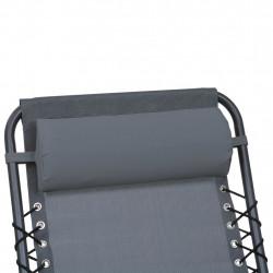Sonata Облегалка за глава за шезлонг, сива, 40x7,5x15 см, textilene - Шезлонги
