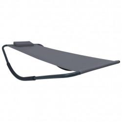 Sonata Градинско легло, сиво, 200x90 см, стомана - Шезлонги