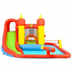 Happy Hop Надуваем батут с пързалка и басейн, 410x385x220 см, PVC - Сравняване на продукти