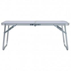 Sonata Сгъваема къмпинг маса, бяла, алуминий, 60x40 см - Градински маси