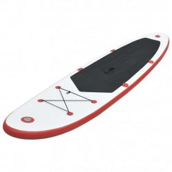 Sonata Стендъп падъл борд SUP сърфборд, надуваем, червено и бяло - Водни спортове