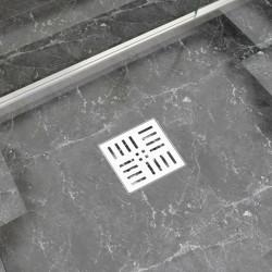 Sonata Душ канал на правоъгълници, 12x12 см, неръждаема стомана - Продукти за баня и WC
