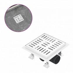 Sonata Душ канал на правоъгълници, 15x15 см, неръждаема стомана - Продукти за баня и WC