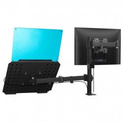 """Sonata Двойна стойка за монитор и лаптоп за монтаж към бюро 13""""-27"""" - Стойки за TV и Плеъри"""