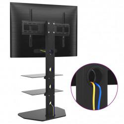 """Sonata Въртяща стойка за телевизор за под, 32""""-70"""", с 2 рафта - Стойки за TV и Плеъри"""