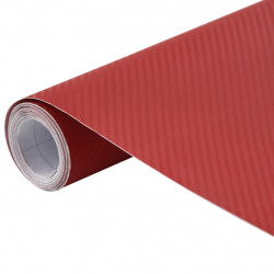 Sonata Фолио за кола матово 3D червено 200x152 см - Авто аксесоари