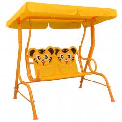 Sonata Детска градинска люлка, жълта, 115x75x110 см, текстил - Люлки и Хамаци