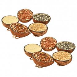 Sonata Храна за птици в кокосови половинки, 10 бр, 290 г - Домашни любимци