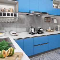 Sonata Самозалепващо фолио за мебели, лазурносиньо, 500х90 см, PVC - Инструменти и Оборудване