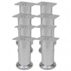 Sonata Кръгли крака за диван, 8 бр, хром, 120 мм - Продукти за монтаж