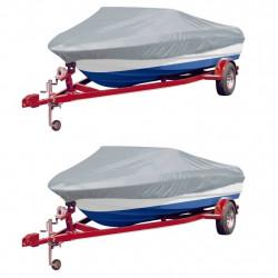 Sonata Чохли за лодки, 2 бр, сиви, дължина 427-488 см, ширина 229 см - За яхти и лодки
