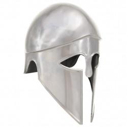 Sonata Гръцки военен шлем, антична реплика, ЛАРП, сребрист, стомана - Детски играчки