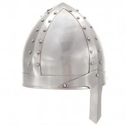 Sonata Средновековен рицарски шлем антик реплика ЛАРП сребрист стомана - Детски играчки