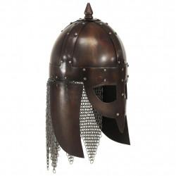 Sonata Викингски военен шлем, антична реплика, ЛАРП, цвят мед, стомана - Сравняване на продукти