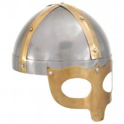 Sonata Викингски шлем, антична реплика, ЛАРП, сребрист, стомана - Сравняване на продукти