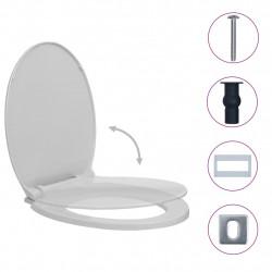 Sonata Тоалетна седалка плавно спускане бързо освобождаване светлосива - Продукти за баня и WC