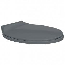 Sonata Тоалетна седалка с плавно затваряне, сива, овална - Продукти за баня и WC