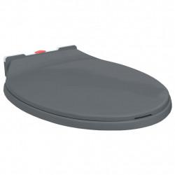 Sonata Тоалетна седалка плавно спускане бързо освобождаване сива овал - Продукти за баня и WC