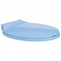 Sonata Тоалетна седалка с плавно затваряне, синя, овална - Продукти за баня и WC