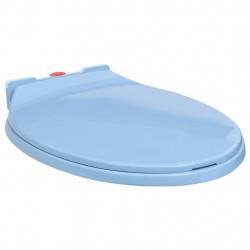Sonata Тоалетна седалка плавно спускане бързо освобождаване синя овал - Продукти за баня и WC