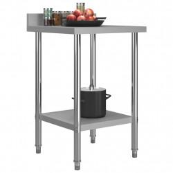 Sonata Кухненска работна маса с панел 60x60x93 см неръждаема стомана - Сравняване на продукти