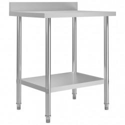 Sonata Кухненска работна маса с панел 80x60x93 см неръждаема стомана - Сравняване на продукти