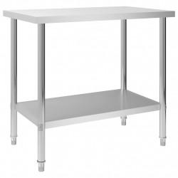 Sonata Кухненска работна маса, 100x60x85 см, неръждаема стомана - Сравняване на продукти