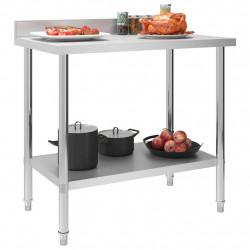 Sonata Кухненска работна маса с панел 100x60x93 см неръждаема стомана - Сравняване на продукти