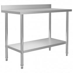 Sonata Кухненска работна маса с панел 120x60x93 см неръждаема стомана - Сравняване на продукти