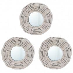Sonata Огледала, 3 бр, бели, 15 см, ракита - Огледала