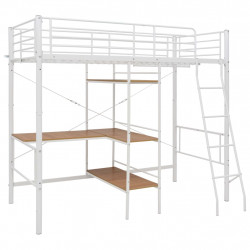 Sonata Горно легло с рамка за маса, бяло, метал, 90x200 см - Сравняване на продукти