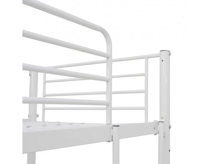 Sonata Горно легло с рамка за маса, бяло, метал, 90x200 см