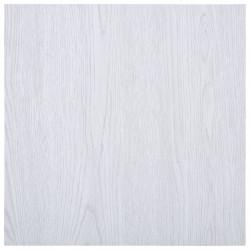 Sonata Самозалепващи подови дъски, 5,11 м², PVC, бели - Подови настилки