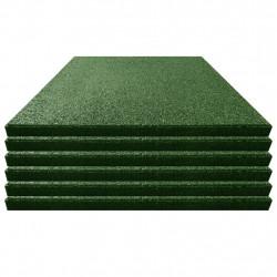 Sonata Ударопоглъщащи каучукови плочи, 6 бр, 50x50x3 см, зелени - Водни спортове