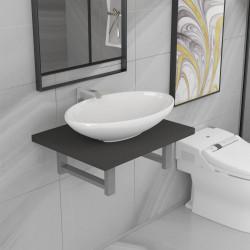 Sonata Комплект мебели за баня от две части, керамика, сив - Сравняване на продукти