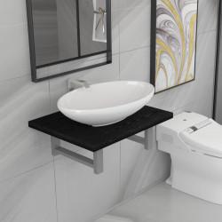 Sonata Комплект мебели за баня от две части, керамика, черен - Комплекти Мебели
