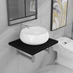 Sonata Комплект мебели за баня от две части, керамика, черен - Комлекти Мебели