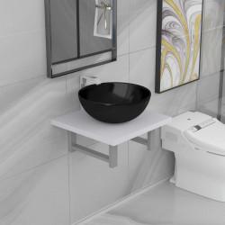 Sonata Комплект мебели за баня от две части, керамика, бял - Комлекти Мебели