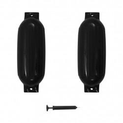 Sonata Фендери за лодка, 2 бр, черни, 69x21,5 см, PVC - За яхти и лодки