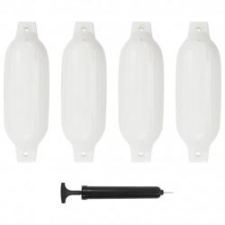 Sonata Фендери за лодка, 4 бр, бели, 41x11,5 см, PVC - За яхти и лодки