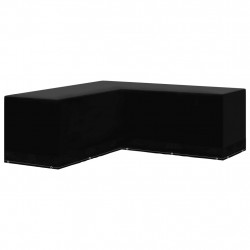 Sonata Градинско покривало за мебели L-образно 12 капси 250x250x90 см - Външни Структури