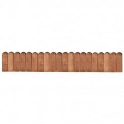 Sonata Палисади за градина, кафяви, 120 см, импрегниран бор - Огради