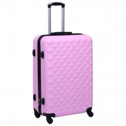 Sonata Комплект твърди куфари с колелца, 3 бр, розов, ABS - Куфари и Чанти