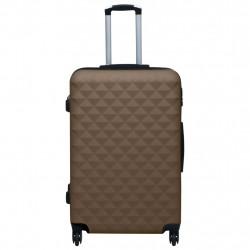 Sonata Комплект твърди куфари с колелца, 3 бр, кафяв, ABS - Куфари и Чанти