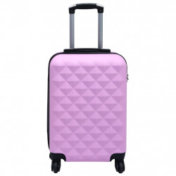 Sonata Твърд куфар с колелца, розов, ABS - Куфари и Чанти