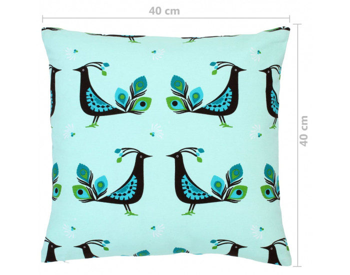 Sonata Възглавници, 2 бр, цветен принт, 40x40 см, памук