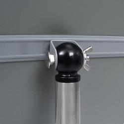 Sonata A4 постер борд на стойка, сребрист, алуминиева сплав - Обзавеждане на Бизнес обекти
