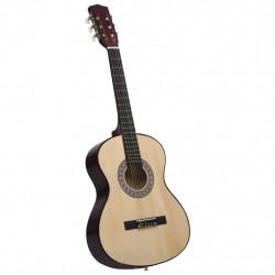 """Sonata Класическа китара за начинаещи и деца, 3/4, 36"""", липово дърво - Музикални Инструменти"""